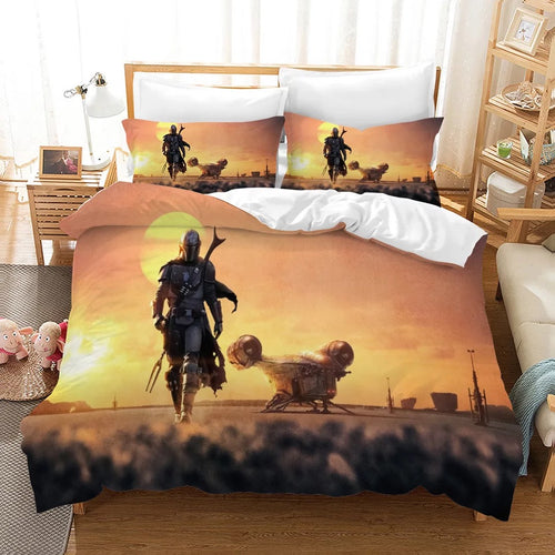 Star Wars The Mandalorian #10 Duvet Cover Quilt Cover Pillowcase Bedding Set Bed Linen Home Decor