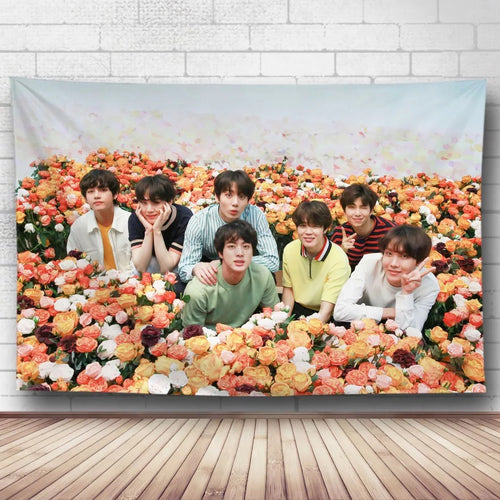 BTS Bangtan Boys #31 Wall Decor Hanging Tapestry Home Bedroom Living Room Decoration