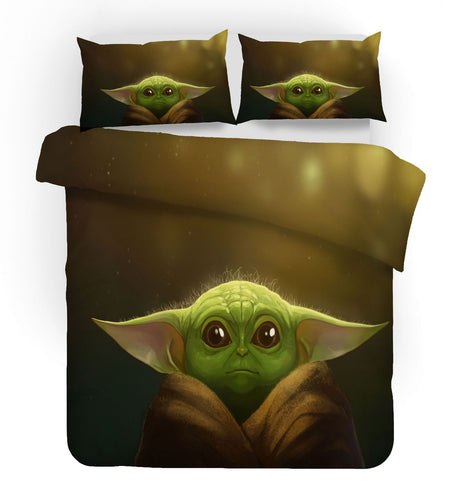Star Wars The Mandalorian Baby Yoda #12 Duvet Cover Quilt Cover Pillowcase Bedding Set Bed Linen Home Decor