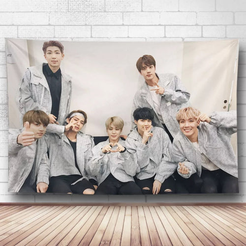 BTS Bangtan Boys #33 Wall Decor Hanging Tapestry Home Bedroom Living Room Decoration