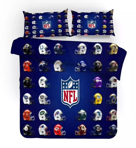NFL National Football League American Football #10 Duvet Cover Quilt Cover Pillowcase Bedding Set Bed Linen Home Bedroom Decor