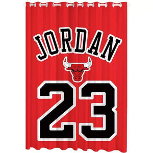 Chicago Basketball Logo Bulls Michael Basketball Blackout Curtain for Living Room Bedroom Window Treatment