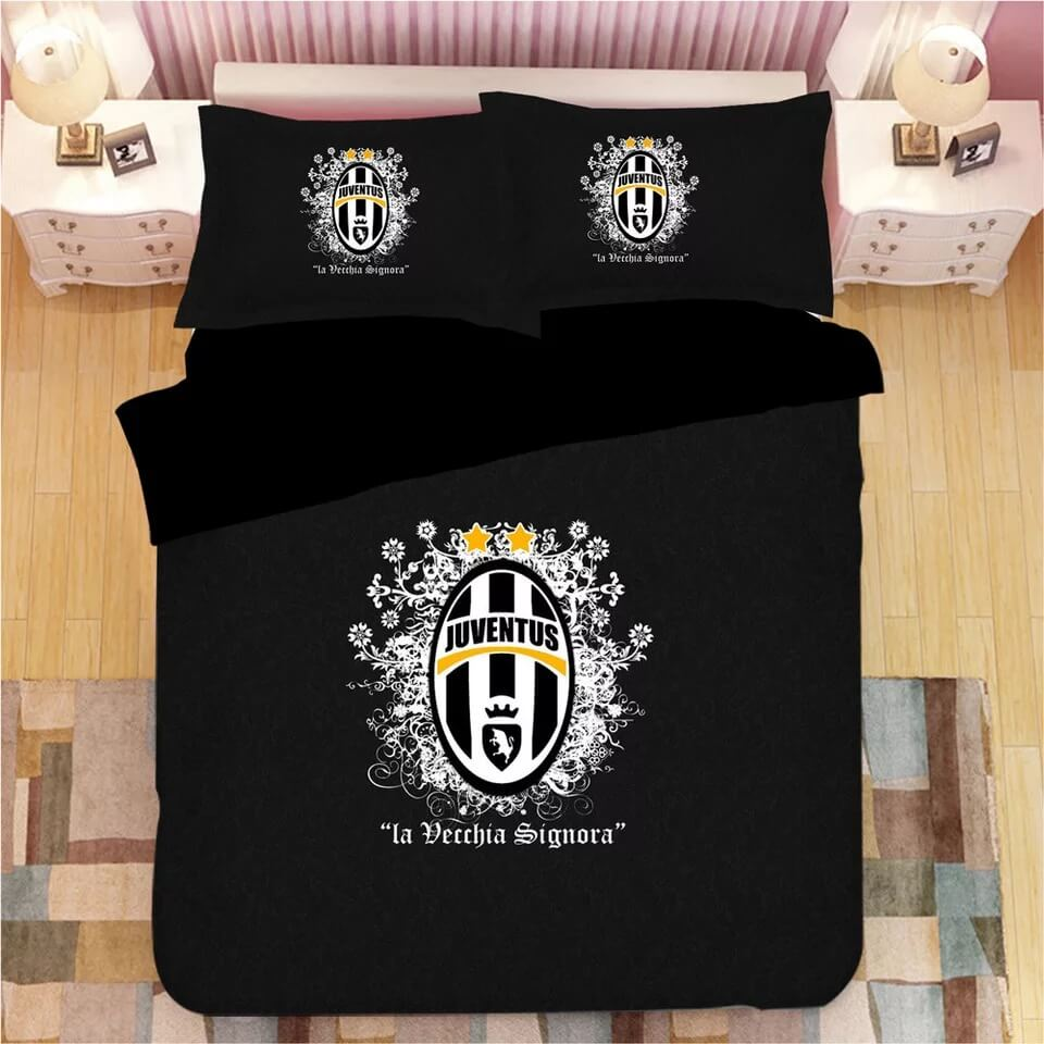 Juventus Football Club #11 Duvet Cover Quilt Cover Pillowcase Bedding Set