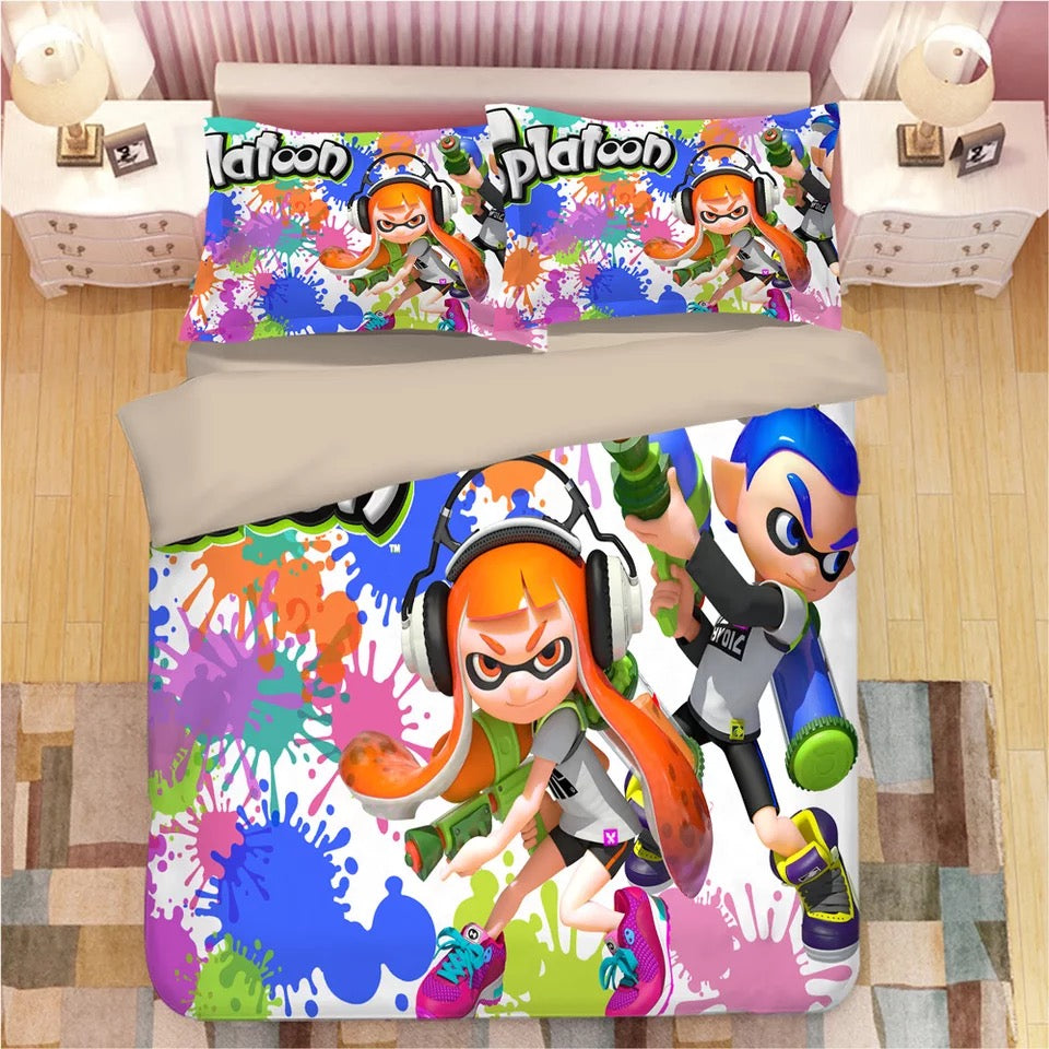 Splatoon #5 Duvet Cover Quilt Cover Pillowcase Bedding Set