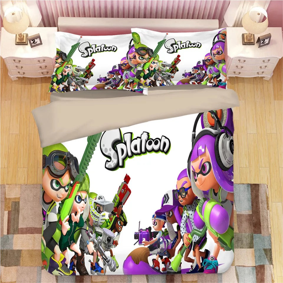 Splatoon #10 Duvet Cover Quilt Cover Pillowcase Bedding Set