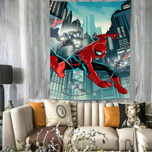 Spiderman #27 Wall Decor Hanging Tapestry Home Bedroom Living Room Decoration