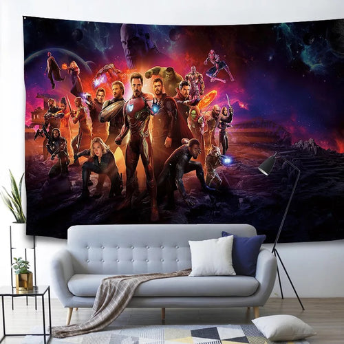 Marvel Avengers Endgame Infinity War Superhero #6 Wall Decor Hanging Tapestry Home Bedroom Living Room Decorations