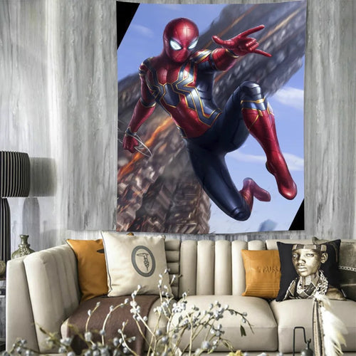 Spiderman #34 Wall Decor Hanging Tapestry Home Bedroom Living Room Decoration