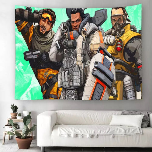 Apex Legends #8 Wall Decor Hanging Tapestry Home Bedroom Living Room Decoration