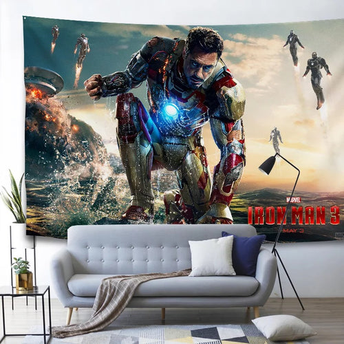 Marvel Avengers Endgame Iron Man #29 Wall Decor Hanging Tapestry Home Bedroom Living Room Decorations