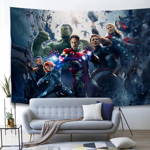 Marvel Avengers Endgame Iron Man #33 Wall Decor Hanging Tapestry Home Bedroom Living Room Decorations