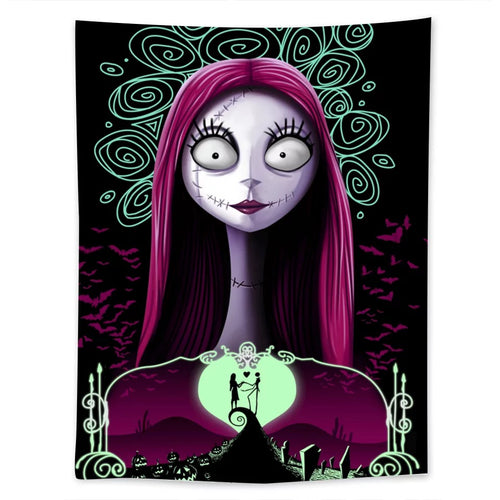 The Nightmare Before Christmas #1  Wall Decor Hanging Tapestry Home Bedroom Living Room Decoration