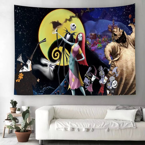 The Nightmare Before Christmas #7  Wall Decor Hanging Tapestry Home Bedroom Living Room Decoration