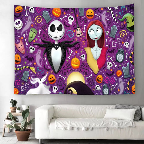 The Nightmare Before Christmas #8  Wall Decor Hanging Tapestry Home Bedroom Living Room Decoration