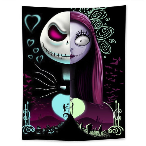 The Nightmare Before Christmas #9  Wall Decor Hanging Tapestry Home Bedroom Living Room Decoration
