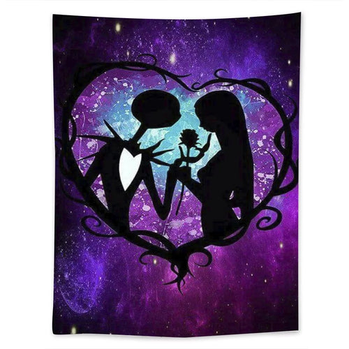 The Nightmare Before Christmas #10  Wall Decor Hanging Tapestry Home Bedroom Living Room Decoration