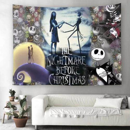 The Nightmare Before Christmas #11  Wall Decor Hanging Tapestry Home Bedroom Living Room Decoration