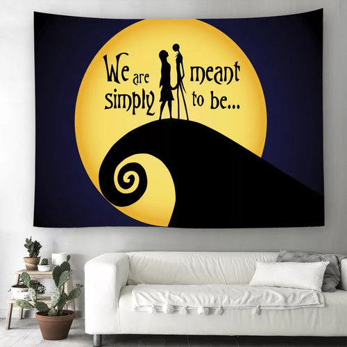 The Nightmare Before Christmas #12  Wall Decor Hanging Tapestry Home Bedroom Living Room Decoration