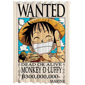 One Piece Monkey D. Luffy #3 Blackout Curtains For Window Treatment Set For Living Room Bedroom