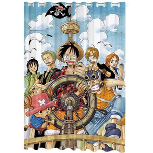 One Piece Monkey D. Luffy #7 Blackout Curtains For Window Treatment Set For Living Room Bedroom