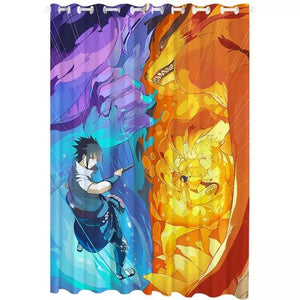 Anime Naruto Uzumaki Naruto #4 Blackout Curtains For Window Treatment Set For Living Room Bedroom
