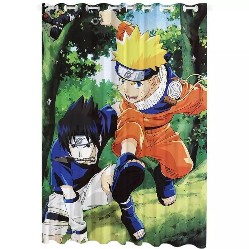 Anime Naruto Uzumaki Naruto #5 Blackout Curtains For Window Treatment Set For Living Room Bedroom