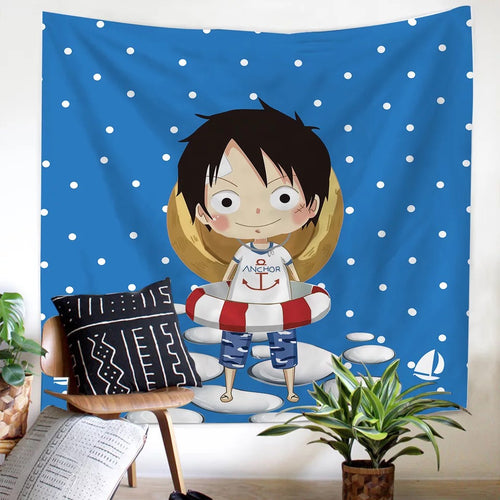 One Piece Monkey D. Luffy #4 Wall Decor Hanging Tapestry Home Bedroom Living Room Decoration