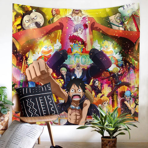 One Piece Monkey D. Luffy #11 Wall Decor Hanging Tapestry Home Bedroom Living Room Decoration