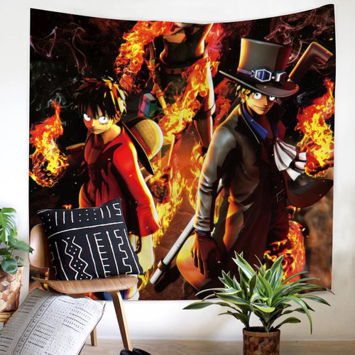 One Piece Monkey D. Luffy #12 Wall Decor Hanging Tapestry Home Bedroom Living Room Decoration