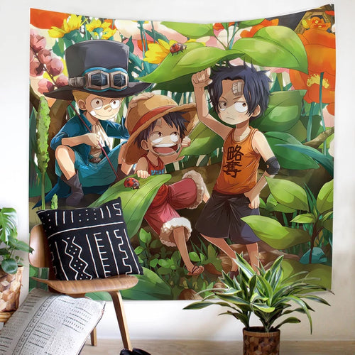 One Piece Monkey D. Luffy #13 Wall Decor Hanging Tapestry Home Bedroom Living Room Decoration