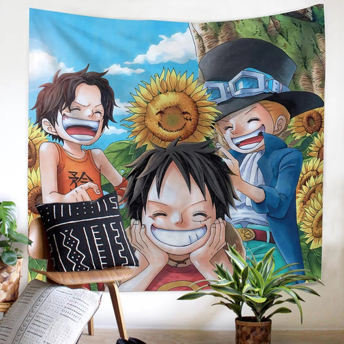 One Piece Monkey D. Luffy #14 Wall Decor Hanging Tapestry Home Bedroom Living Room Decoration