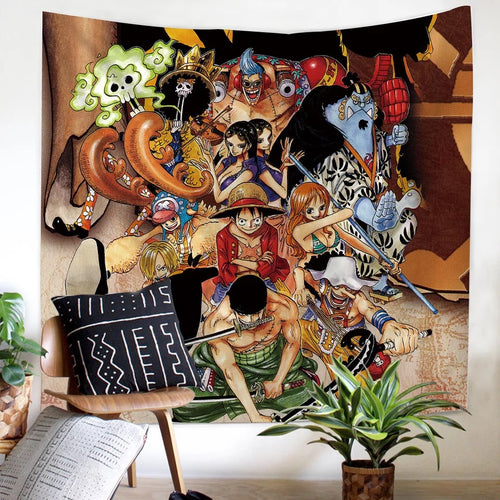 One Piece Monkey D. Luffy #17 Wall Decor Hanging Tapestry Home Bedroom Living Room Decoration