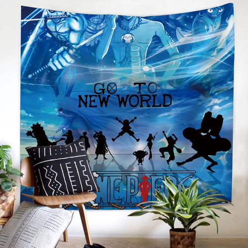 One Piece Monkey D. Luffy #21 Wall Decor Hanging Tapestry Home Bedroom Living Room Decoration