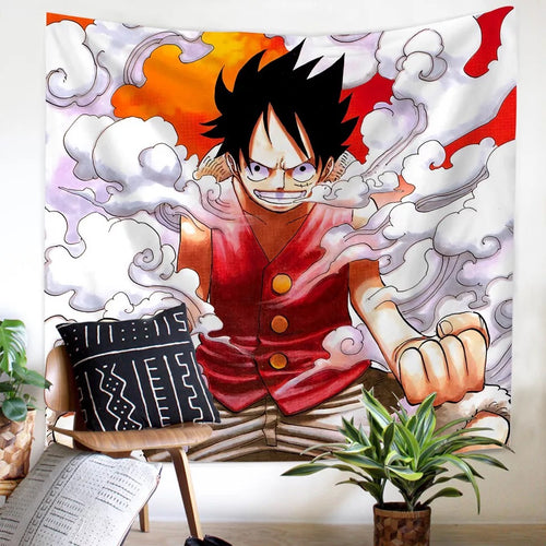 One Piece Monkey D. Luffy #22 Wall Decor Hanging Tapestry Home Bedroom Living Room Decoration