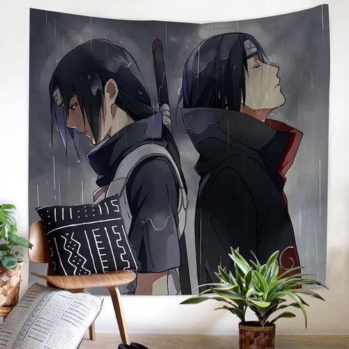 Anime Naruto Akatsuki #1 Wall Decor Hanging Tapestry Home Bedroom Living Room Decoration