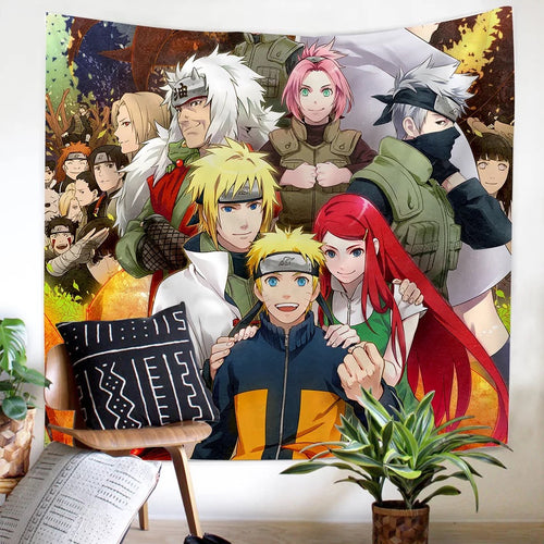 Anime Naruto Akatsuki #11 Wall Decor Hanging Tapestry Home Bedroom Living Room Decoration