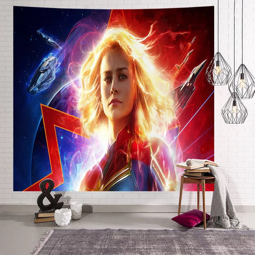 Captain Marvel Captain Marvel #8 Wall Decor Hanging Tapestry Home Bedroom Living Room Decorations