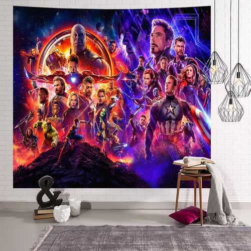 Avengers Infinity War Captain America #14 Wall Decor Hanging Tapestry Home Bedroom Living Room Decorations