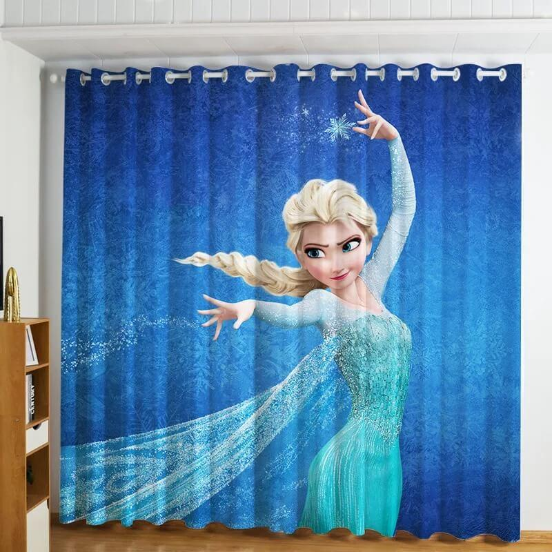 Frozen Princess Elsa #1 Blackout Curtains For Window Treatment Set For Living Room Bedroom