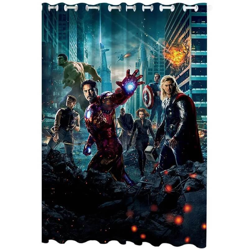 Avengers Endgame #3 Blackout Curtains For Window Treatment Set For Living Room Bedroom