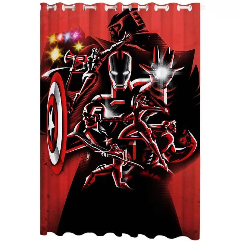 Avengers Endgame #10 Blackout Curtain for Living Room Bedroom Window
