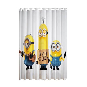 Despicable Me Minions #3 Blackout Curtains For Window Treatment Set For Living Room Bedroom