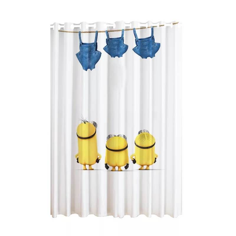 Despicable Me Minions #5 Blackout Curtains For Window Treatment Set For Living Room Bedroom