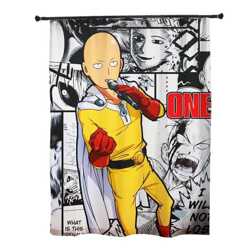 One Punch Man Saitama #4 Blackout Curtains For Window Treatment Set For Living Room Bedroom