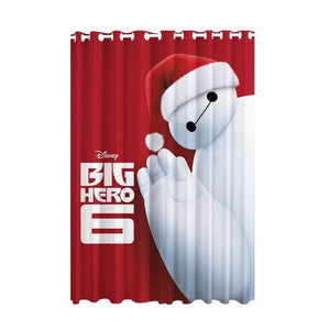 Big Hero 6 Baymax Christmas #2 Blackout Curtains For Window Treatment Set For Living Room Bedroom