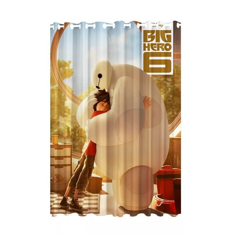Big Hero 6 Baymax #3 Blackout Curtains For Window Treatment Set For Living Room Bedroom