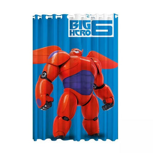 Big Hero 6 Baymax #5 Blackout Curtains For Window Treatment Set For Living Room Bedroom