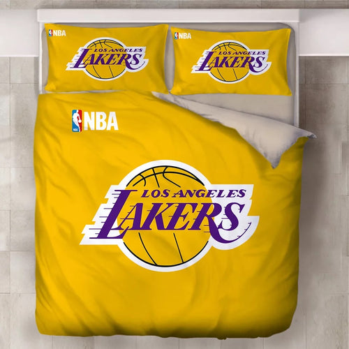 Basketball Los Angeles Lakers Basketball Club Duvet Cover Bedding Set