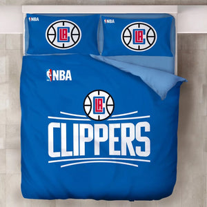Basketball Los Angeles Clippers Duvet Cover Bedding Set Pillowcase