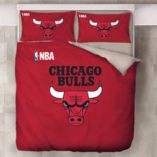 Load image into Gallery viewer, NBA Chicago Bulls Duvet Cover Bedding Set Pillowcase